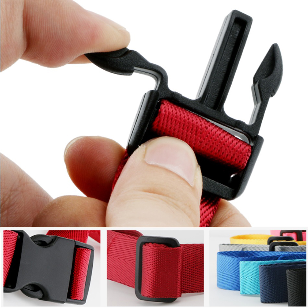 2 Pcs Universal Nylon Backpack Webbing Chest Harness Belts Waist Strap Buckle Gear Clips for Camping Hiking Climbing Accessory Pakistan