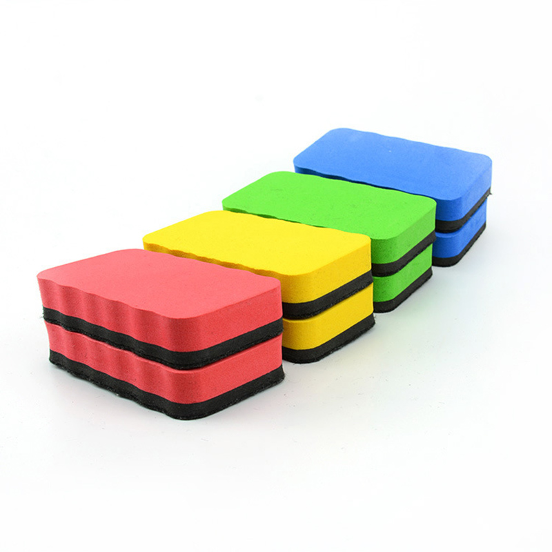 1 PCS Random Big Size Magnetic White Board Eraser Kawaii Chalk Marker Erasers Sponge Whiteboard Cleaner For Erasable Whitebord