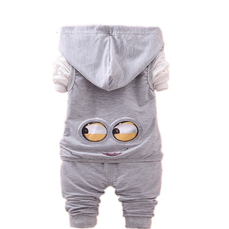 00f229315 New Minions Clothing Set 3 Pieces Baby Jacket+Pullover+Pants Cartoon ...