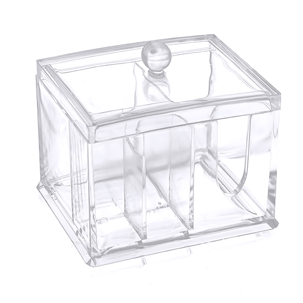 4 compartments clear acrylic multifunctional home office desk nail polish jewelry makeup organizer box holder container acrylic office desk