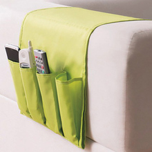 Hanging Sofa Side Storage Bag Cell Phones Remote Control Sundries Holder Foldable 4 Pockets Over Armchair Couch Pouch