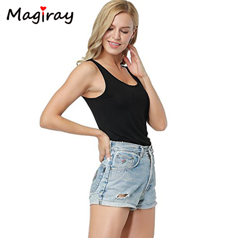 73cca768e464c3 Magiray Scrop Neck Plain Tank Bodysuit Women 2019 New Sexy Body Top White  Sleeveless U neck Stretch Basic One Piece Overall C001-in Bodysuits from  Women s ...