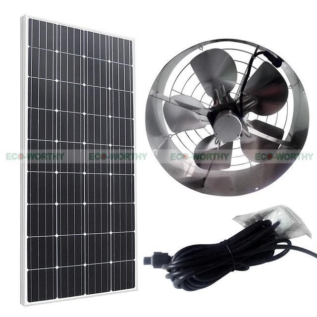 Solar Power Fan >> Us 225 4 8 Off Solar Powered 65 W Loteng Ventilator Ventilasi Atap Fan W 12 V 100 W Panel Surya Mono Di Ventilasi Dari Perbaikan Rumah