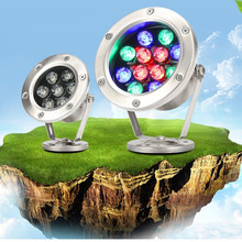 HAWBOIRRY Low voltage 12V LED colorful underwater lights Swimming pool fish pond fountain rockery landscape