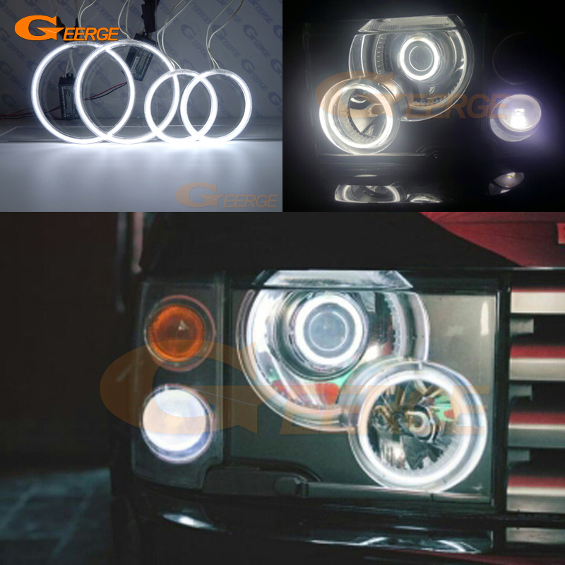 For Land Rover Range Rover 2003 2004 2005 Xenon Headlight Excellent Ultra bright illumination CCFL Angel Eyes kit Halo Ring