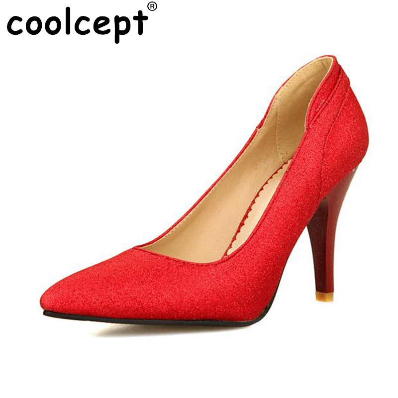 ФОТО women thin high heel shoes stiletto pointed toe brand female fashion heeled sexy pumps heels shoes plus big size 30-50 P16617
