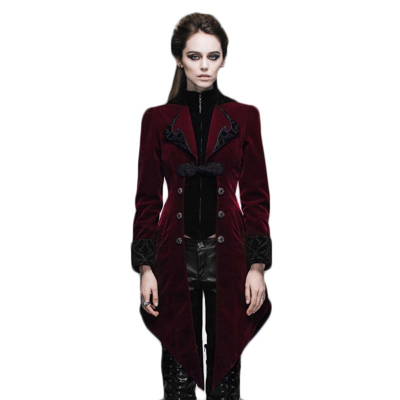 Gothic Women's Coat Steampunk Court Loyal Long Қаптамалар - Әйелдер киімі - фото 3