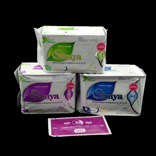 3 pack anion sanitary pads menstrual pad feminine hygiene Product cotton sanitary napkin Health shuya love anion pad menstrual