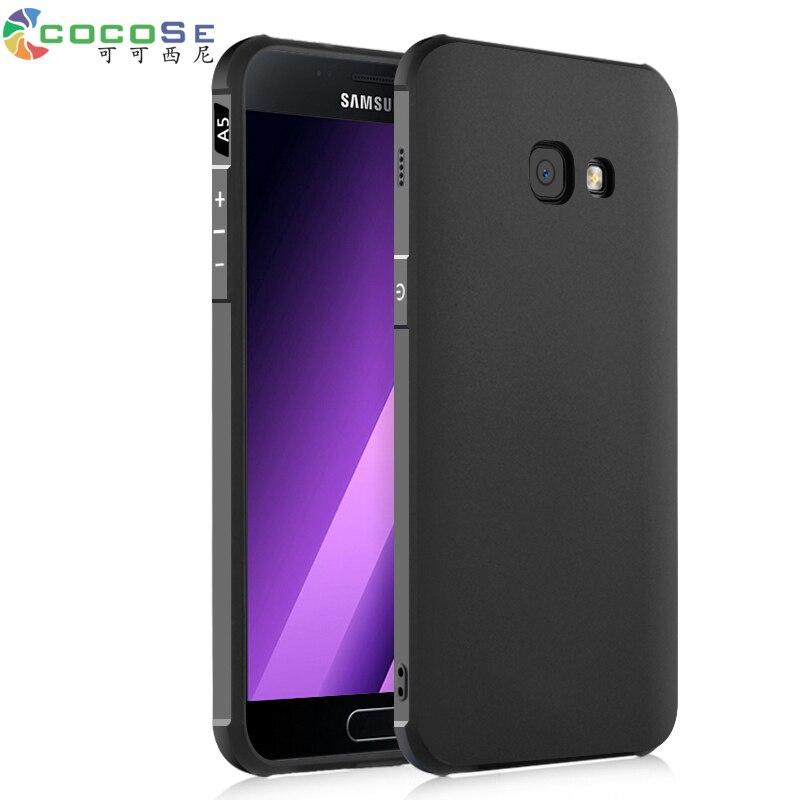 COCOSE Silikon Fall Für Samsung Galaxy A5 2017 A520 A7 A720 A3 SM-A320F ultradünne 3D Geschnitzte Coque Luxury Back Cover antiklopf