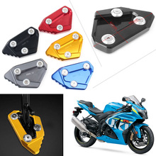 Motorcycle Kickstand Foot Side Stand Extension Pad Support Plate For SUZUKI GSXR1000 K9 2009 2010 2011 2012 2013 2014 2015 2016