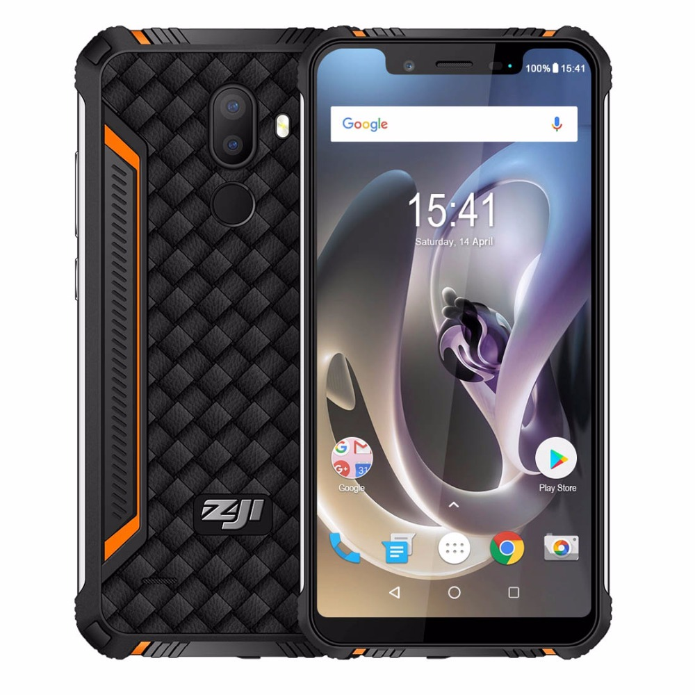 HOMTOM ZOJI Z33 4600mAh 3GB 32GB Android 8.1 Face ID IP68 Waterproof Rugged Mobile Phone 5.85 inch Notch HD+ OTG 4G Smartphone