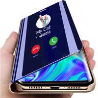 Miroir intelligent étui pour huawei à rabat P30 Lite Light P30Lite couvre support etui téléphone huawei P30 Pro P30Pro Coque Funda Hawei P 30 Pro