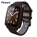 Pewant Leather Strap Smart Watch 1.54 240*240 IPS Wristwatch Bluetooth Pedometer Sleep Monitor Support Camera TF SIM Smartwatch