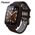 Pulseira de couro smart watch 1.54 pewant 240*240 ips câmera apoio tf sim smartwatch relógio de pulso do bluetooth pedômetro monitor de sono