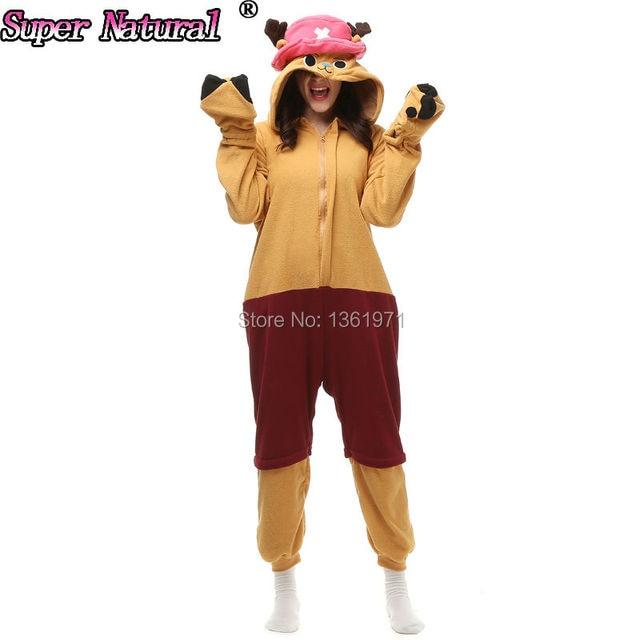 HKSNG Christmas Party Good Quality Women Girls Adult Winter Tony Chopper Kigurumi  Animal Pajamas Onesies Cosplay 050317c9151d4