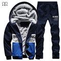 2016 Men Tracksuit Hoodies Sweatshirts Men Winter Warm Thick Fleece Hooded Jacket+Pants Sportswear Men Male Clothing Set S-4XL