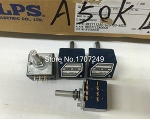 Image 3 - 送料無料1ピース10 k 20 k 50 k 100 k 250 k 500 k日本alps rk27ダブルステレオポテンショメータ10〜500KAX2 rk27ロータリースイッチ