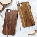 Para iphone 7 caso padrão de madeira de couro genuíno do vintage retro pu + TPU Magro Tampa De Madeira de Volta Acessórios Do Telefone Para A Apple iPhone7