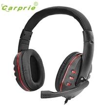 CARPRIE новая игровая гарнитура Голосовое управление проводное Hi-Fi качество звука для PS4 черный+ красный