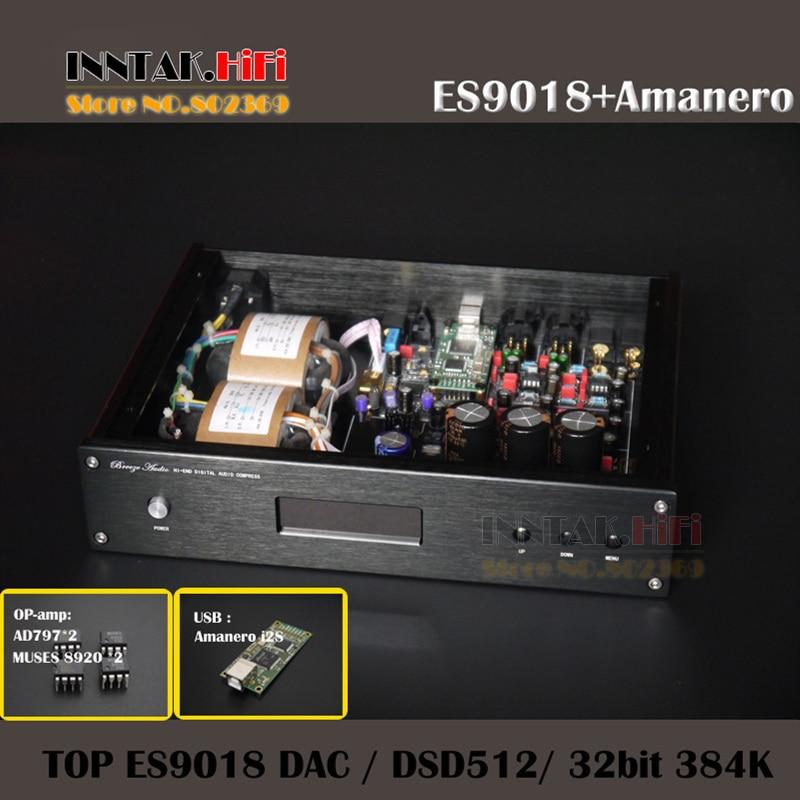 Prix pour TOP Fini Audio DAC ES9018 + Amanero IIS USB + MUSES8920 * 2 AD797 * 2 Op-amp + TCOX 0.1PPM CAD soutien DSD512, 384 K