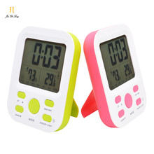New Modern Tilted Stand or Lying in the Table LCD Calendar Digital Clocks with Temperature