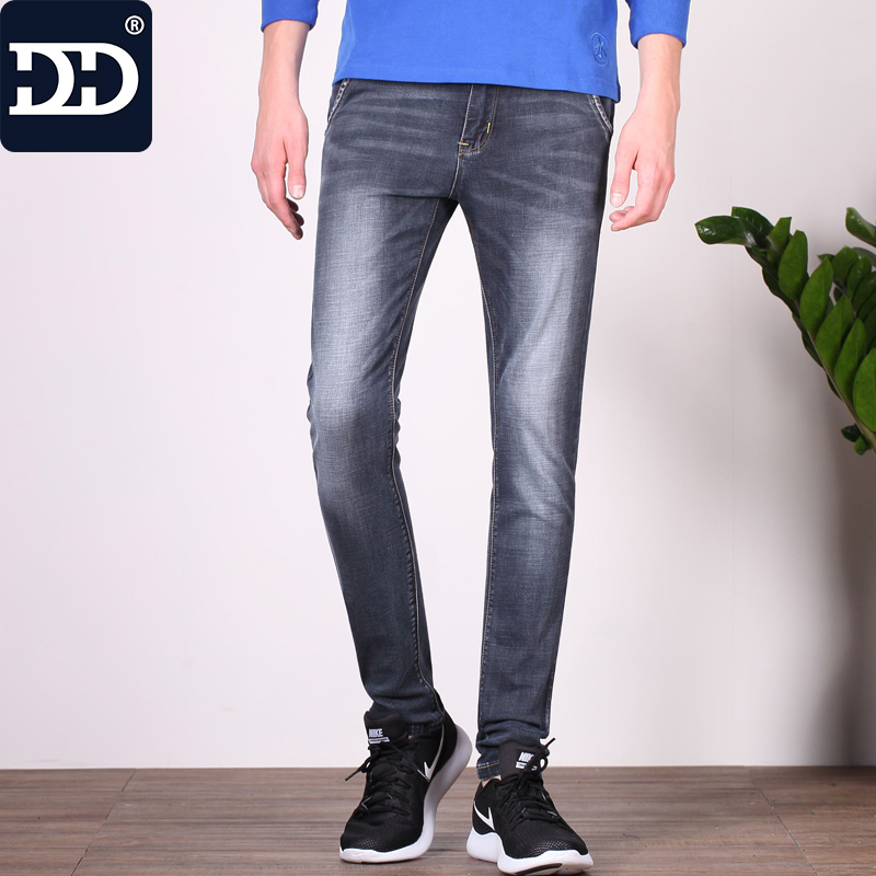 Dingdi Jeans 2017 New Design Summer  Famous Brand Men Slim Jeans male  Cotton Skinny Pants Long denim Trousers For Men men s cowboy jeans fashion blue jeans pant men plus sizes regular slim fit denim jean pants male high quality brand jeans