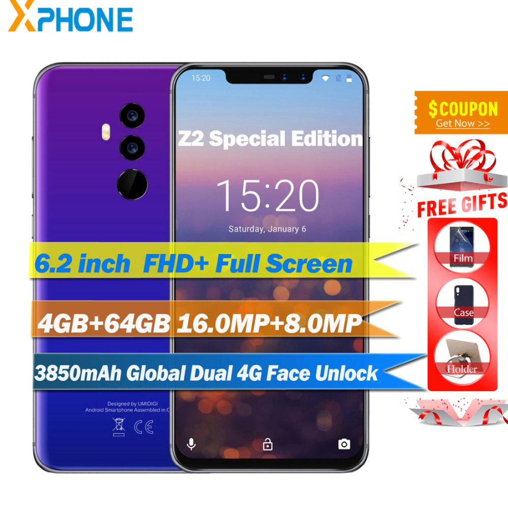 UMIDIGI Z2 Special Edition Global 4G 6 2 FHD Phone Helio P23 Octa Core 4GB 64GB