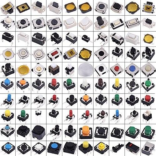 500 Uds surtido de botones pulsadores de Interruptor microinterruptor táctil Kit coche Control remoto Tablet Reparación de PC paquete Interruptor táctil conector