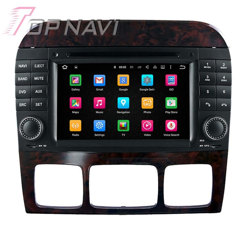 Car Radio 7 Quad Core Android 7.1 Stereo For Benz S W220 (1999-2006) Topnavi for Benz CL-W215 (1998-2005) DVD GPS Navigation