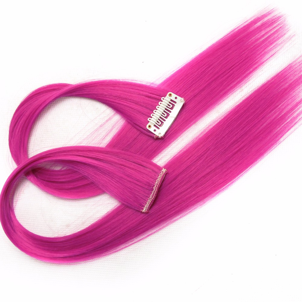 HTB1gxhfUNTpK1RjSZR0q6zEwXXaR - Colored synthetic hair extensions clips in one piece Ombre fake purple long straight rainbow hair pieces dream ice's