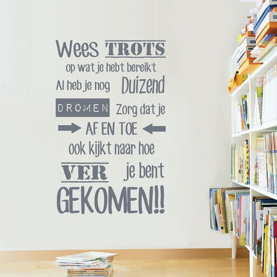 Dutch Inspirational Quotes Vinyl Wandtattoo Nederlands Home - Wohnkultur - Foto 3