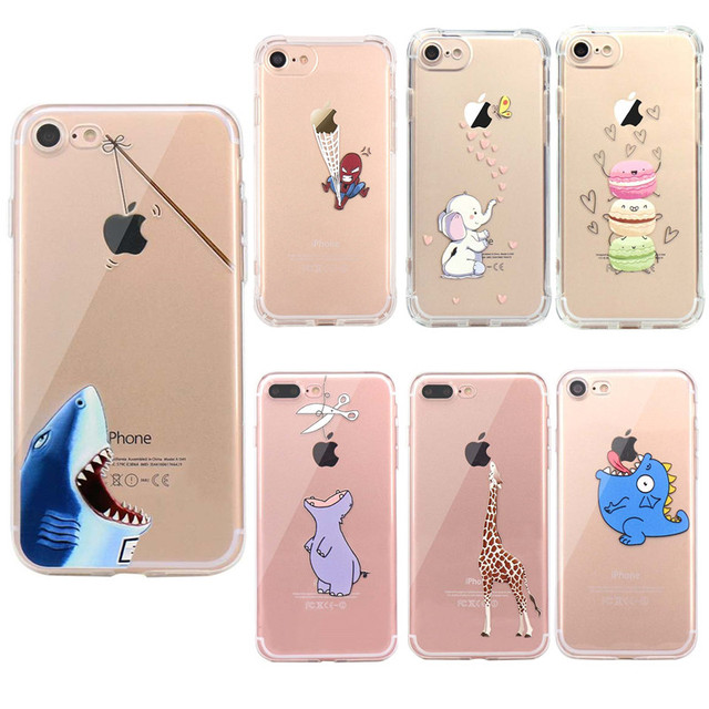 Luxury 3D Cute Cartoon Silicone Case For iPhone 6 5s For Apple iPhone 7 Cases Soft TPU Full