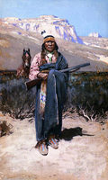 Indian Brave West Native Americans Henry Farny Whole Sale Oil Painting Replica Free Shipping Cost Accept