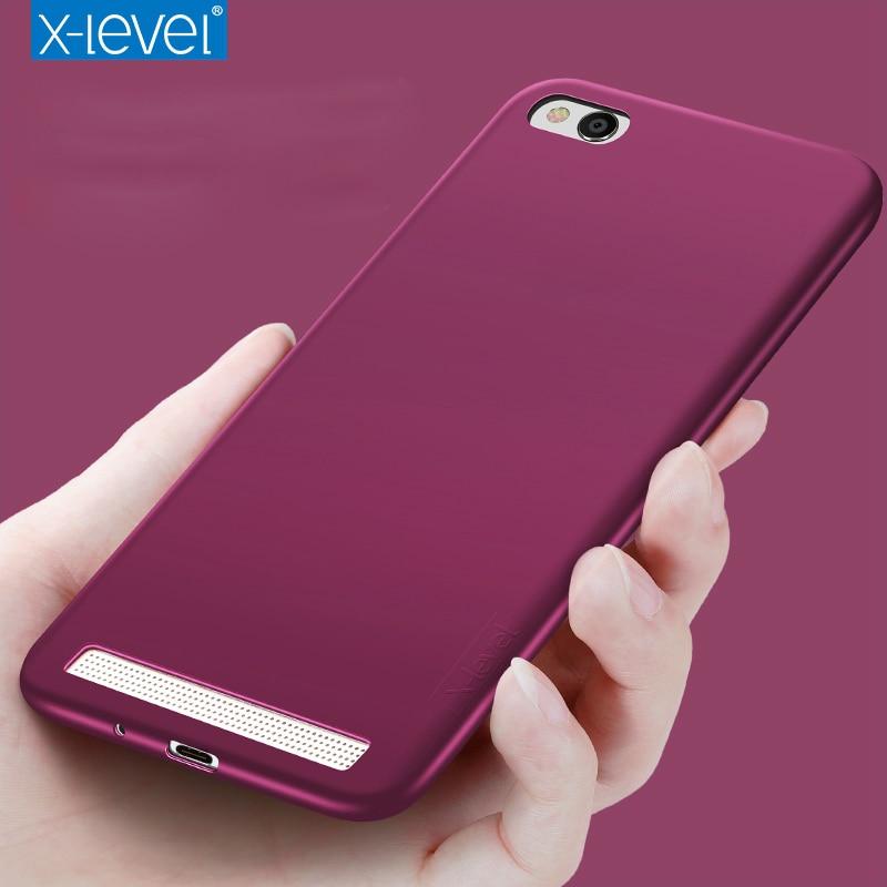 X-Level Guardian Ultra thin Soft Matte TPU Case for Xiaomi Redmi 5A Scrub Back Cover for Xiaomi Redmi 5A Frosred Silicone Cases