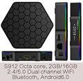 1 PCS por Correio T95Z-2gb/16 gb 2 anos de garantia Android6.0 caixas de TV IPTV 4 K KODI16.1 A53 S912 octa núcleo Do Bluetooth