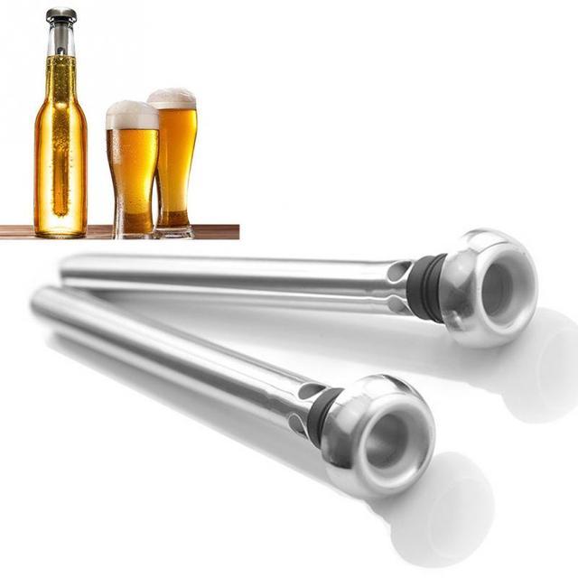 2 Teile/satz Praktisches Home Bar Edelstahl Bier Rotwein Kühl Stock ...