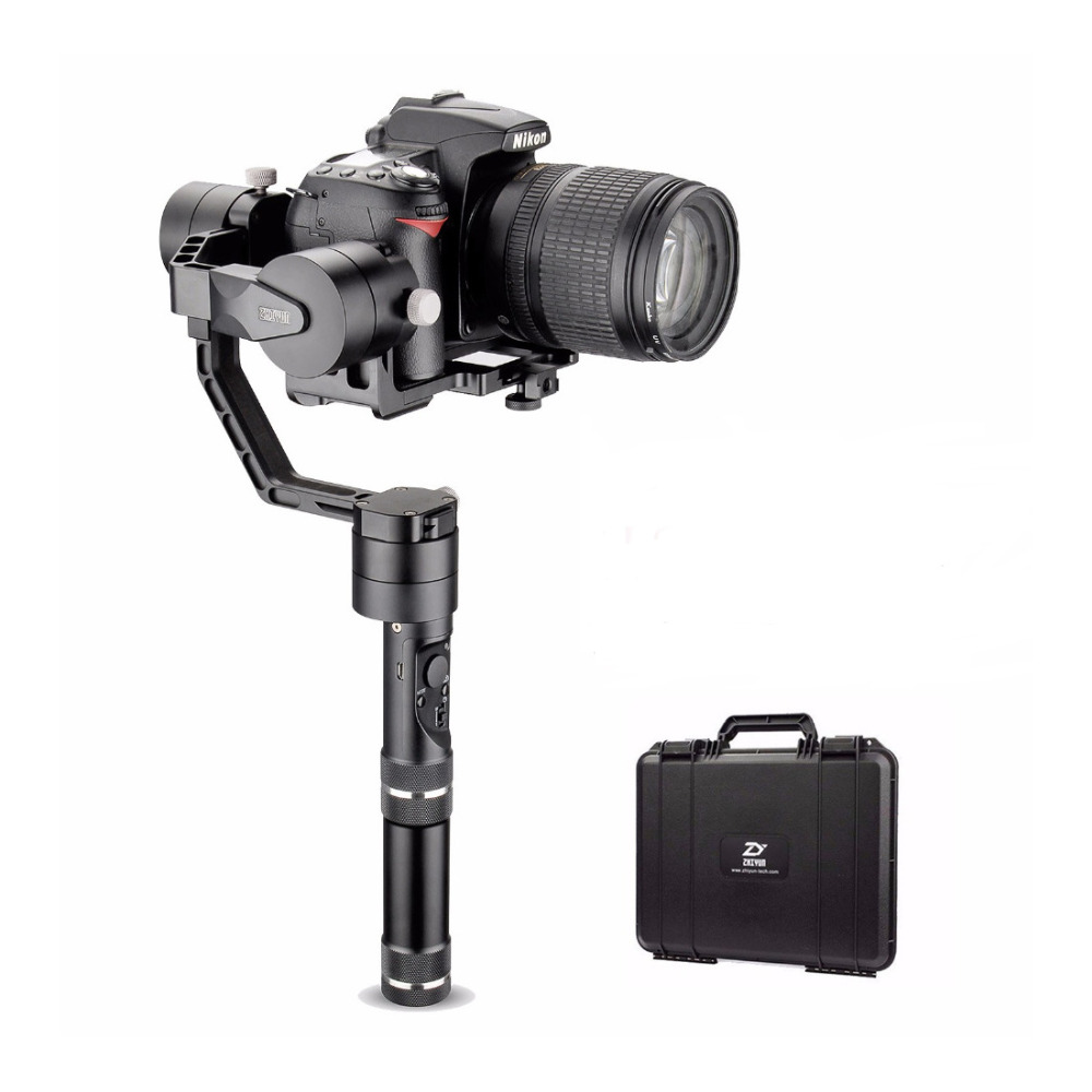Zhiyun Tech Crane V2 3-Axis Bluetooth Handheld Gimbal Stabilizer for ILC Mirrorless Cameras+Hard Case,Stabilizer for Cameras