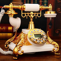 Quadrado europeu do vintage telefone fixo antika resina antigo britânico telefone fixo telefono fijo para escritório em casa branco vermelho