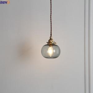 Image 5 - IWHD Nordic แก้วทองแดงจี้ห้องนอนห้องนั่งเล่น LOFT จี้ไฟโคมไฟแขวนโคมไฟแสง