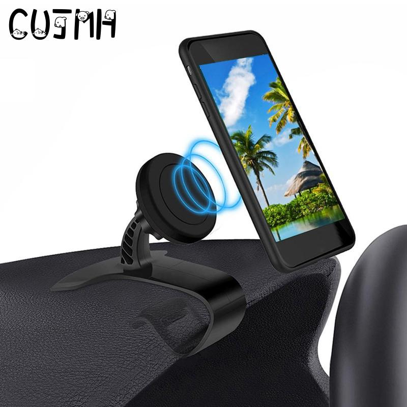 CUJMH Magnet Car Holder 360 Rotatable Mobile Phone Dashboard Stand Clip Mount GPS Bracket Magnetic Car Phone Holder for iphone 7