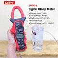 Цифровой клещи UNI-T UT205A UT206A AC DC Вольтметр AC Амперметр тестер сопротивления частоты Авто Диапазон мультиметр диод тест