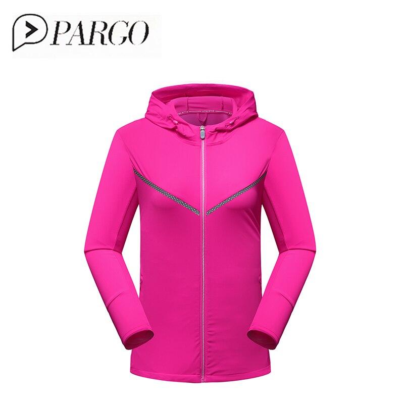 a46bdfbc0557e PARGO Plus Size Running Jacket Women Sunscreen Ultralight Hooded Sport  Jacket Windbreaker Quick Dry Outdoor Sportswear Raincoat