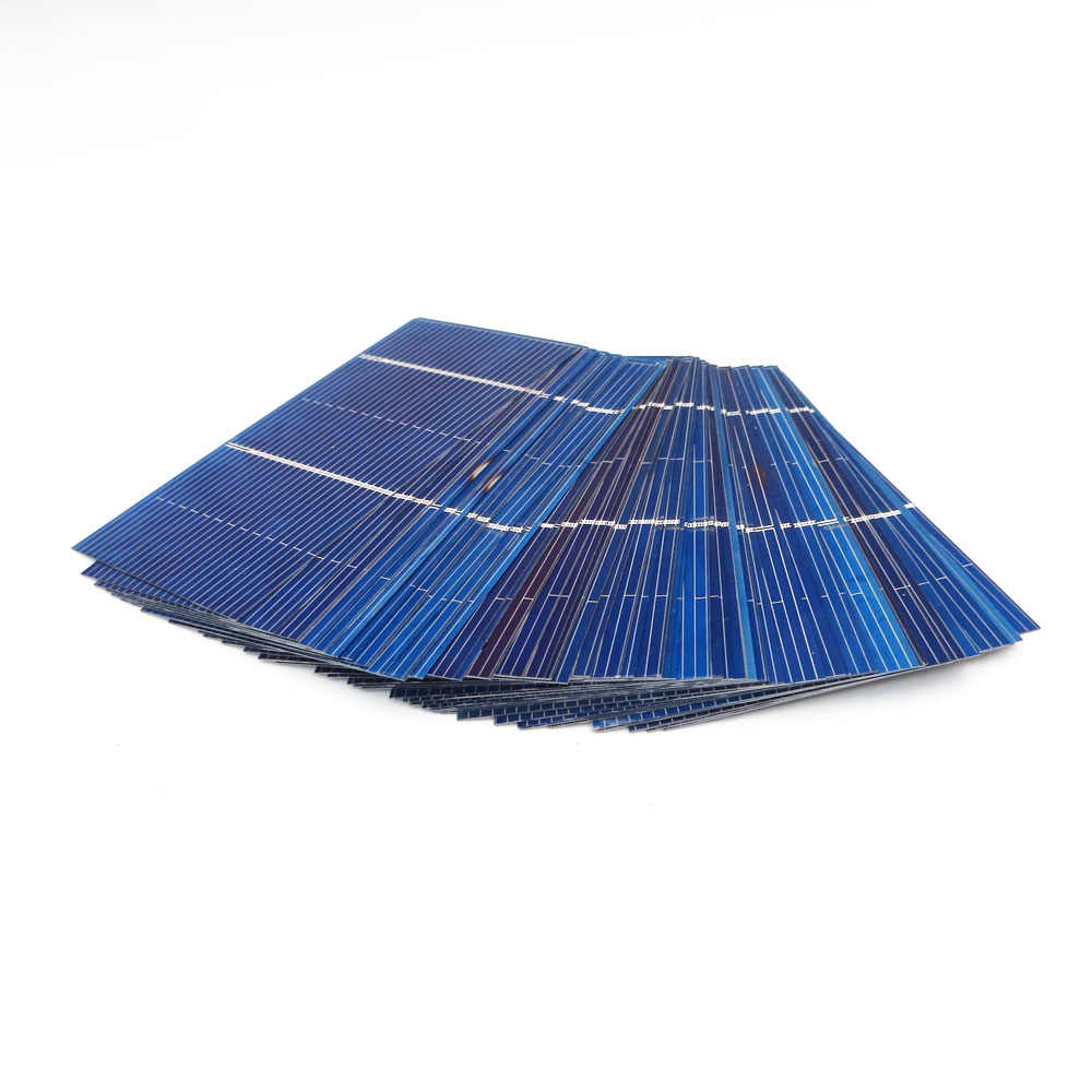 50Pcs/lot Solar Panel DIY Solar Cells Polycrystalline Photovoltaic Module Solar Battery Charger 0.5V Poly PV Power Connect