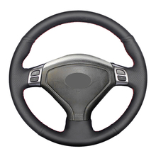 Hand-stitched Black Artificial Leather Car Steering Wheel Cover for Subaru Forester 2004-2006 Outback 2004 2005 Legacy