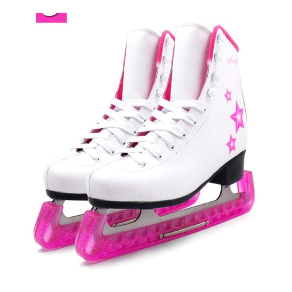 2pcs Soft Plastic Ice Hockey Figure Skate Blade Guard Cover Protector
