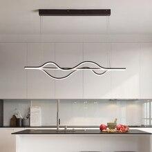 LICAN кулон с волной огни лампы для гостиной Кухня офисные подвесной светильник Алюминий шт. Подвеска лампы шнур подвесные светильники