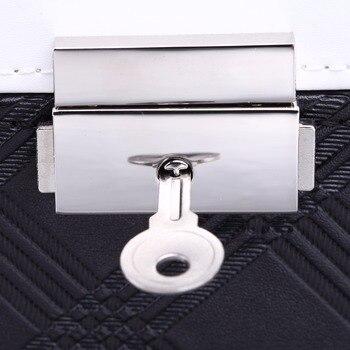 ROWLING Large Velvet Jewellery Storage Box Black PU Jewellery Packaging Rings Boxes Bracelet Earrings 3