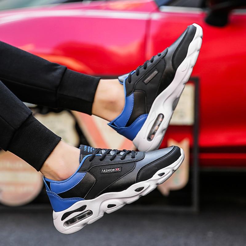 Tênis Sólida Grife Primavera Para De Casual vermelho branco Up Azul Outono Vulcanize Sapatos Lace Homens Malha Ar Moda Casuais Baixa 57wvRq8