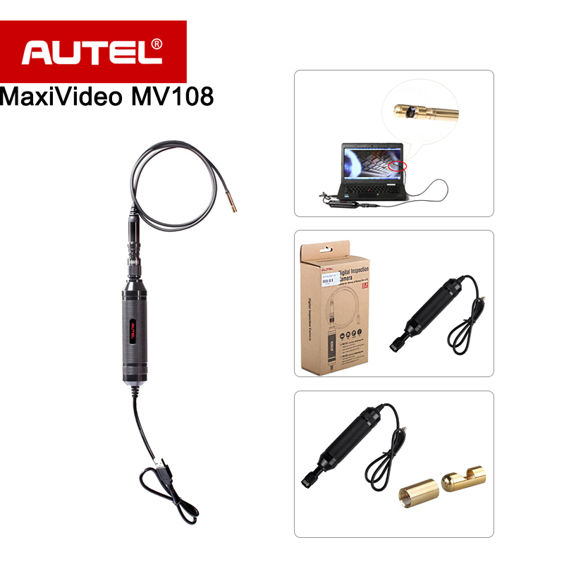 Autel MaxiVideo MV108 8.5mm Digital Video Inspection Scope For MaxiSys pro MS908P