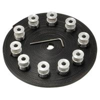 10pcs 20 Teeth GT2 5mm Timing Belt Pulley Bore Gear Synchronous Parts 10m 33ft GT2 Timing